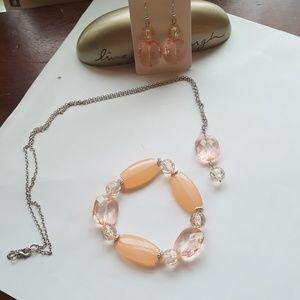 Women's 3PC,💗 Pink & Silver, 💎Jewelry set